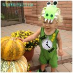 How to Make an Easy Toddler Tick Tock Croc Halloween Costume