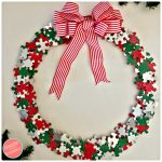 DIY Unique Festive Holiday Wreath from Puzzle Pieces