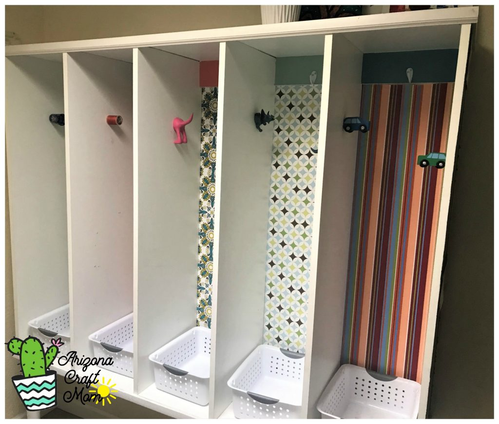 How to build a kids and family mudroom storage system to organize your family's stuff.
