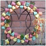 Miniature Terra Cotta Flower Pot Wreath