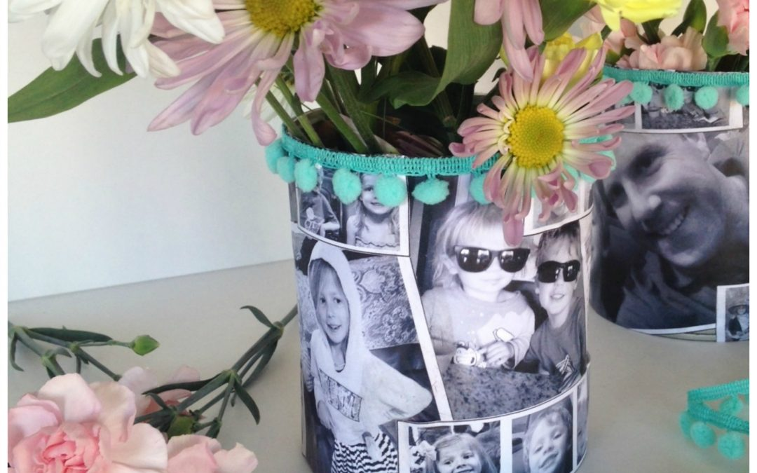 Make an Easy and Special Mother's Day Tin Can Photo Vase