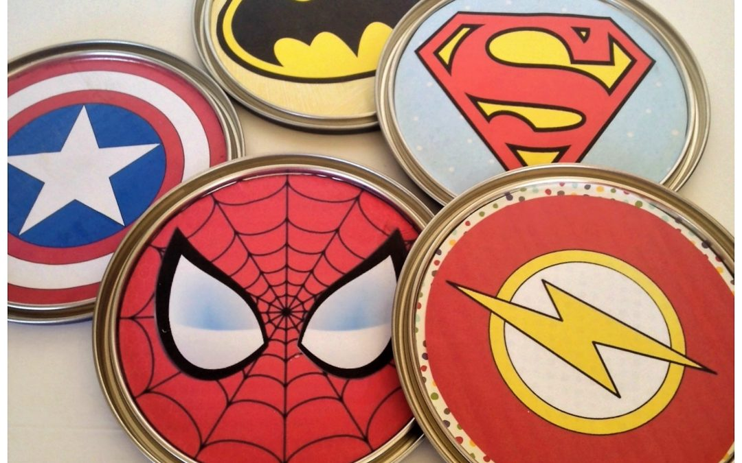 How To Make Fun Paint Can Lid Superhero Wall Decor Dazzle While Frazzled