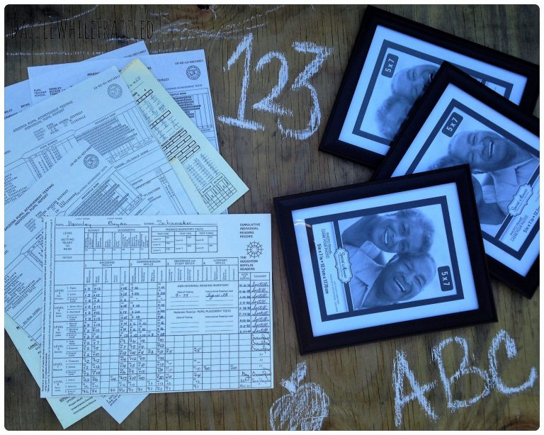 Turn the kids school papers into custom photo frames | DazzleWhileFrazzled.com