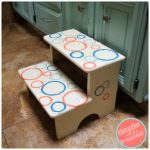 DIY Polka Dot Kids Step Stool Makeover with Paint
