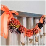 How to Make Rustic Pinecone Halloween Garland