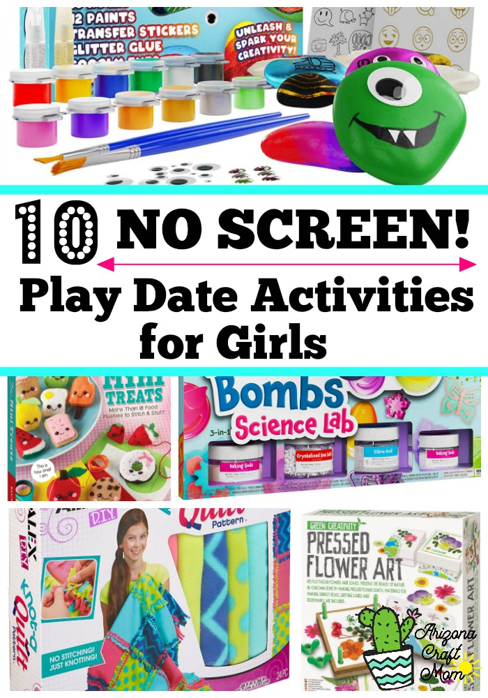 How to host a no screen time play date, birthday party and sleepovers for fun craft activities for girls.