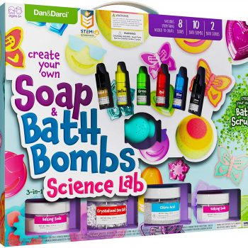 DIY bath bomb and soap making kit for play date, birthday party, sleepover activities for girls.