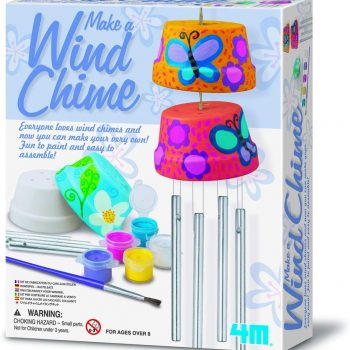 Fun DIY wind chimes painting craft kit for kids play dates, birthday parties and sleepovers.
