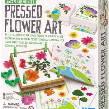 Pretty pressed flower art kit for kids playtime, birthday parties and sleepovers.