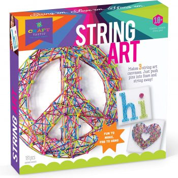 DIY string art craft kits for kids play dates, birthday parties and sleepovers.