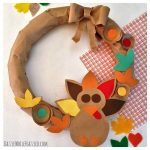 How to Make Easy Paper Bag Thanksgiving Turkey Wreath