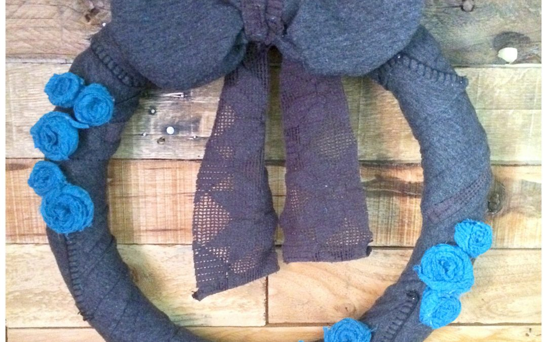 How to Make a Winter Wreath from Old Sweater and Scarf