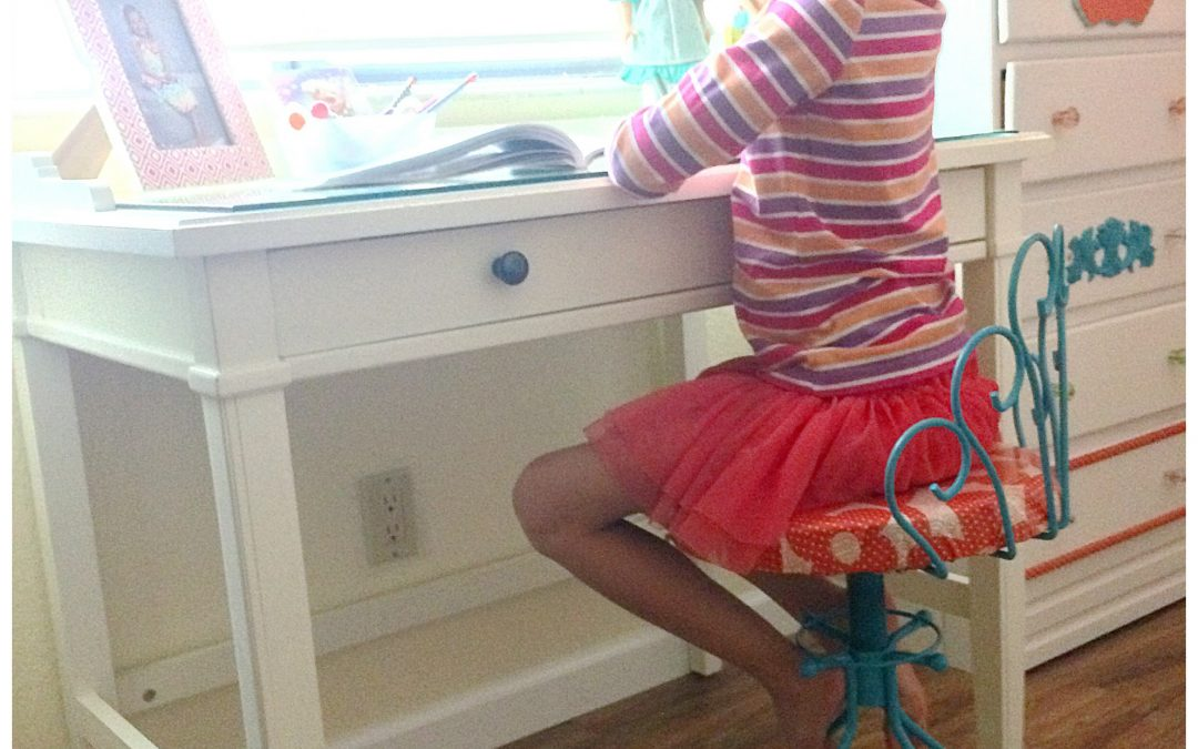 How To Make Cute Desk Chair From Old Vanity Stool Dazzle While Frazzled