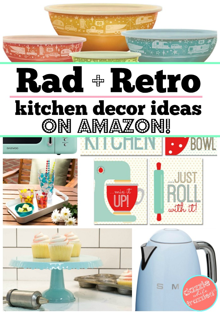 How to design a rad and retro mid-century inspired kitchen with decor accessories you can buy on Amazon.