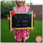 How to Make First/Last Days of School Cute Chalkboard Sign