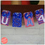 DIY U.S.A. Patriotic Banner from Paper Goodie Bags
