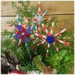 DIY Red, White and Blue Paper Stars from Straws