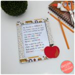 How to Make Teacher Appreciation Frame + Free Teacher Poem