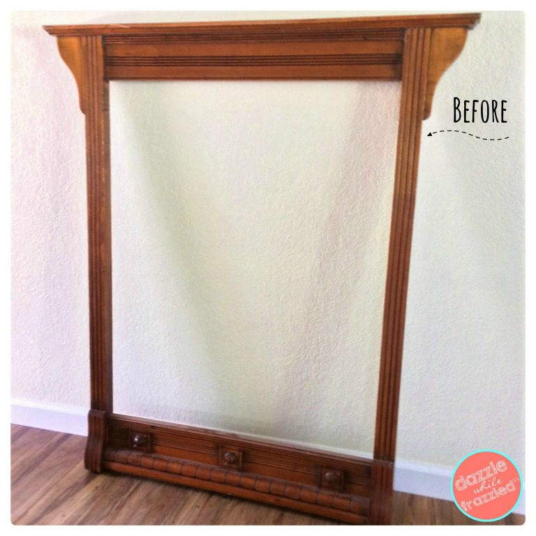 Large Wall Art From Old Dresser Mirror, What To Do With A Dresser Mirror