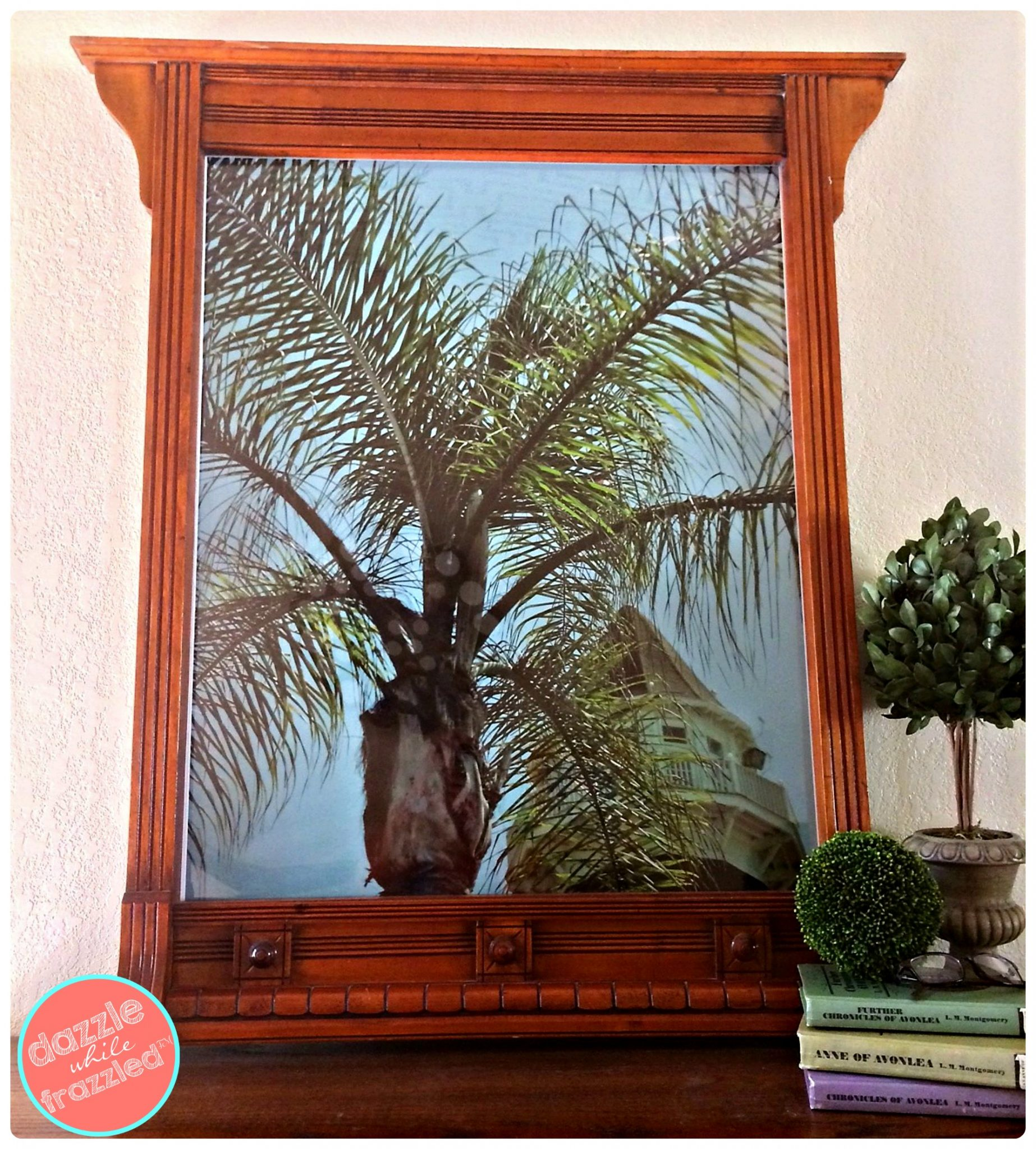 How To Make Large Wall Art From Old Dresser Mirror Dazzle While Frazzled