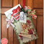 DIY Christmas Shopping Bag Door Hanger