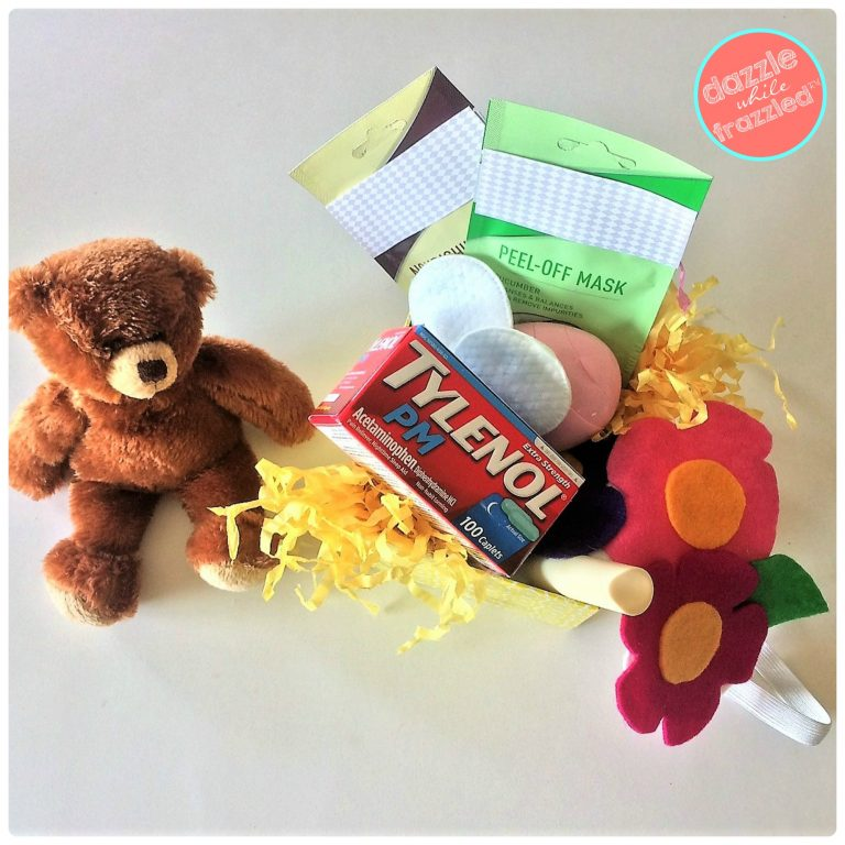Give a friend the gift of an enjoyable night's sleep with DIY sleep gift basket with DIY sleep mask