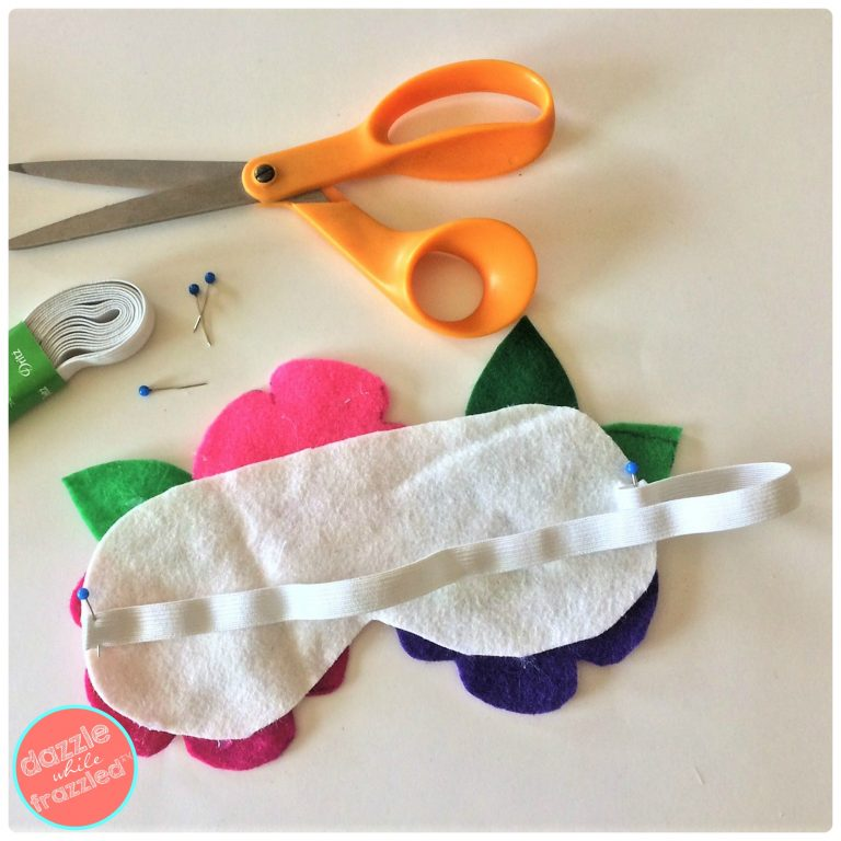 How to make your own DIY sleep mask using felt sheets and braided elastic