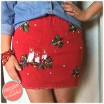 How To Turn Ugly Christmas Sweater Into A Skirt