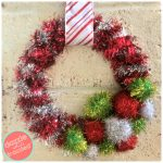 How to Make Retro 20-Minute Tinsel Garland Wreath