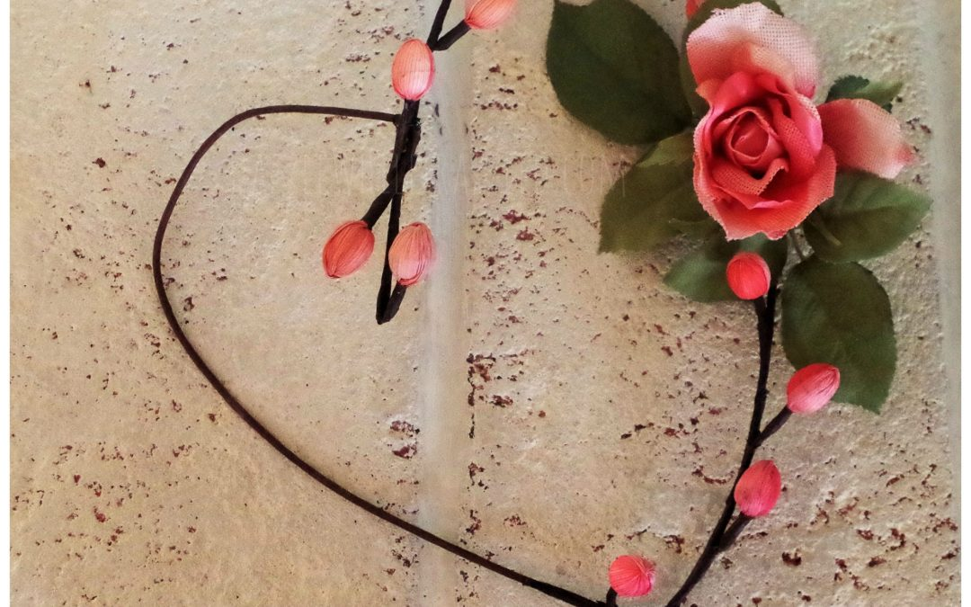 How to Make an Easy Faux Flower Stem Heart Wreath