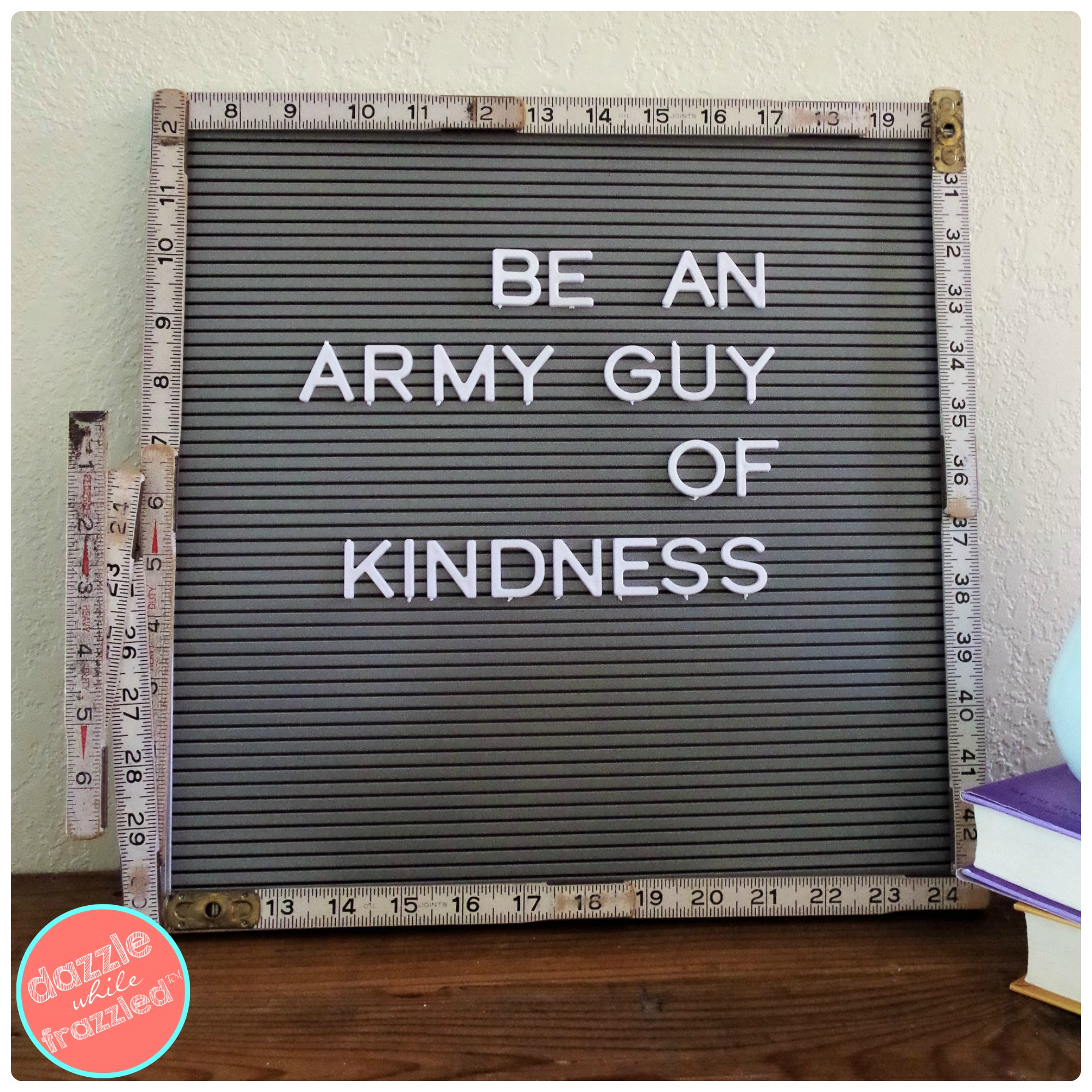 Picture of: How To Make Vintage Letter Board For Home Decor Dazzle While Frazzled