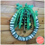 How to Make a St. Patrick's Day Wreath from Shamrock Headbands