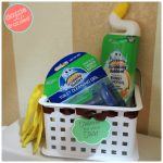 How to Make Easy Bathroom Toilet Cleaning Caddy