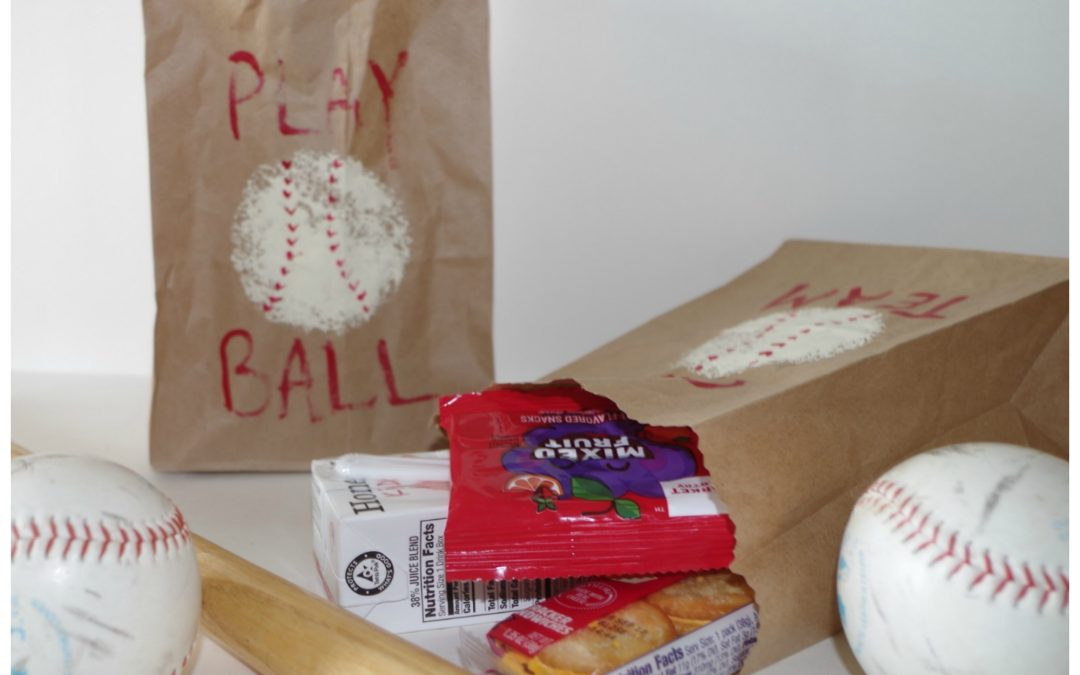 How To Make Fun Brown Paper Baseball Snack Bags Dazzle While Frazzled