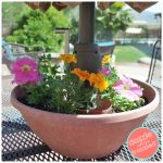How to Make Easy DIY Umbrella Table Flower Planter