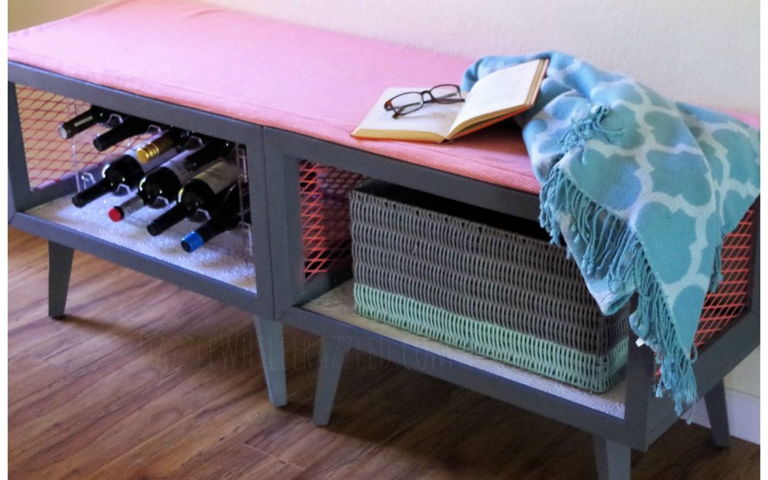 How To Make Easy Stylish Bench From Nightstands Dazzle While Frazzled