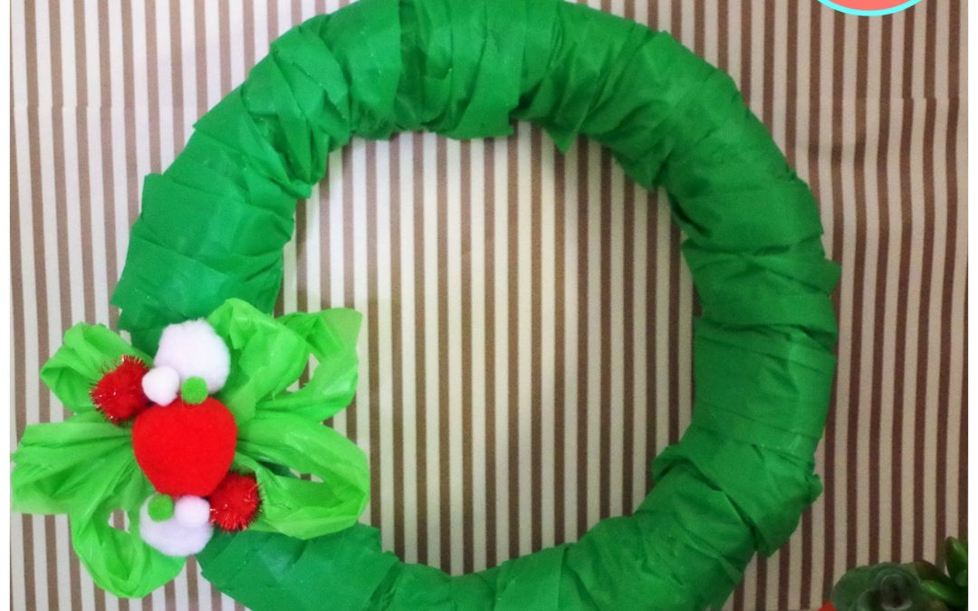How To Make A Wreath With 2 Plastic Tablecloths Dazzle While Frazzled - How To Make A Plastic Tablecloth Wreath