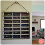 How to Make a Chalkboard from Old Hot Dog Bun Tray