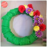 How to Make Easy, Pretty Flower Blossoms Springtime Wreath