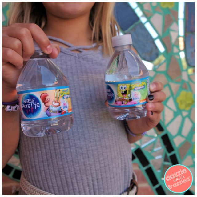 10 easy ways to teach kids kindness with Ben's Bells and Box Tops for Education found on 8oz bottles of Nestle Pure Life water with SpongeBob packaging.