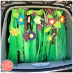 How to Make Cute Halloween Car Jungle-Themed Trunk