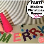 "How to Make Fastest ""Merry"" Banner for Christmas"
