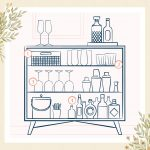 How to Make Pretty Bar Dresser from Old Furniture